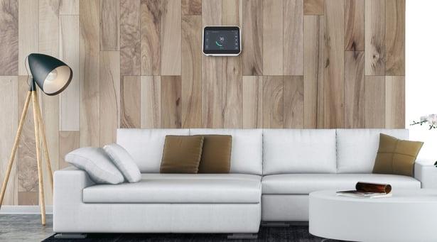 Sensedge air quality monitor in modern home